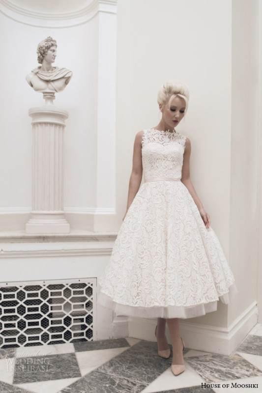 house-of-mooshki-bridal-autumn-2014-dara-sleeveless-blush-tea-length-wedding-dress