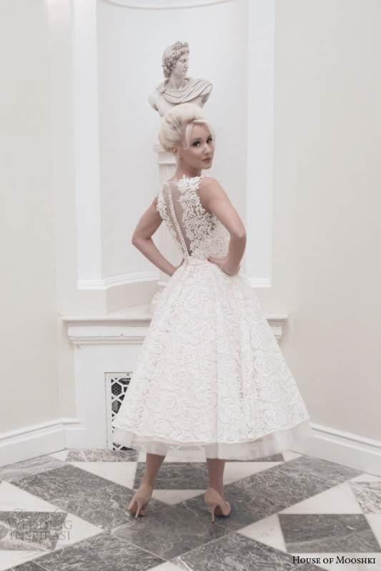 house-of-mooshki-bridal-autumn-2014-dara-sleeveless-blush-tea-length-wedding-dress-back-view