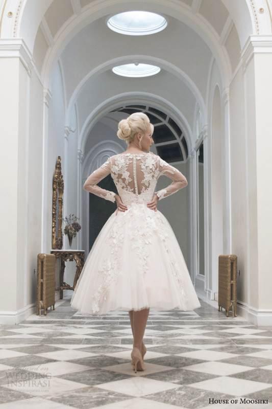 house-of-mooshki-tea-length-wedding-dress-fall-2014-charlotte-long-sleeve-gown-illusion-back-view
