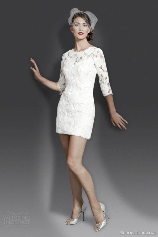 modern-trousseau-fall-2014-tiffani-short-wedding-dress-with-sleeves