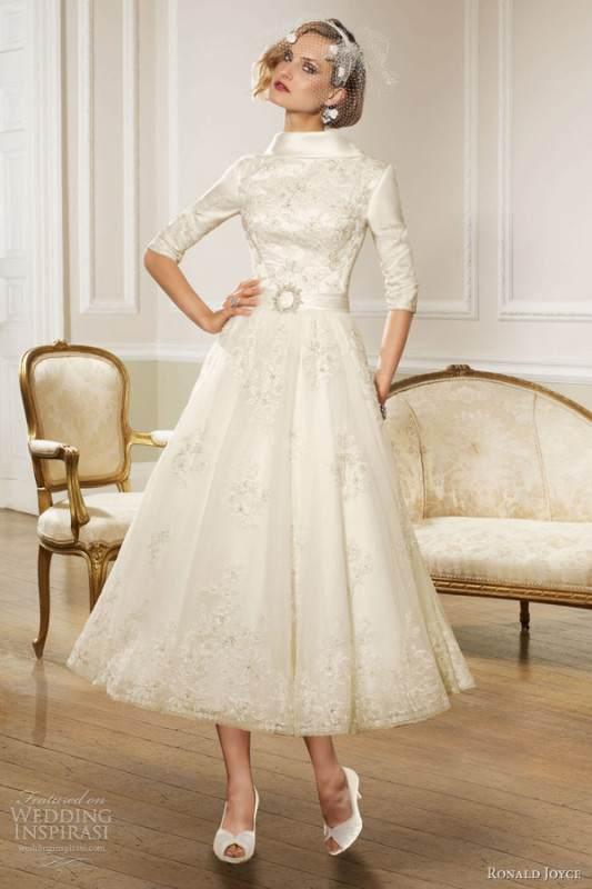 ronald-joyce-bridal-2013-sleeve-tea-length-wedding-dress
