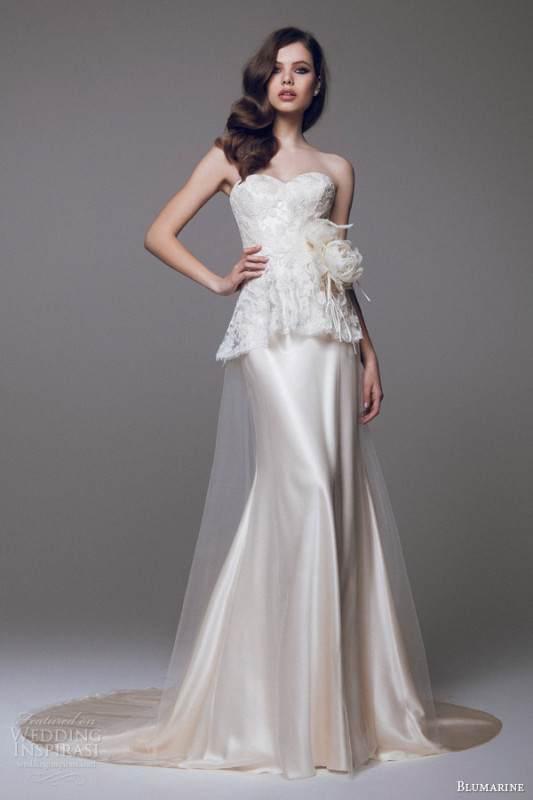 blumarine-bridal-2015-beautiful-strapless-wedding-dress-lace-peplum-bodice