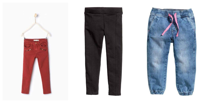 spodnie na jesien dla dziewczynki